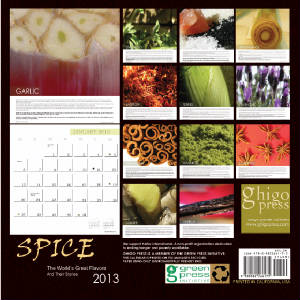 2013 SPICE COOKING CALENDAR